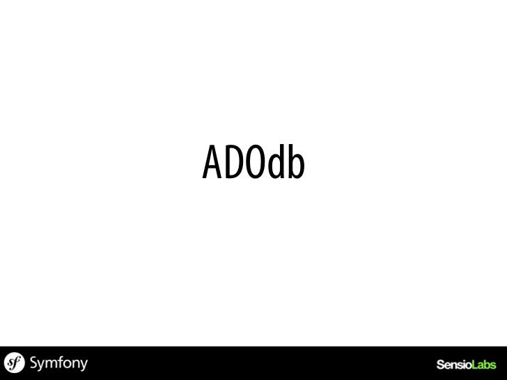 include(adodb.inc.php);$db = NewADOConnection(mysql);$db->Connect(localhost, root, password, demo);$result = $db->Execute(...