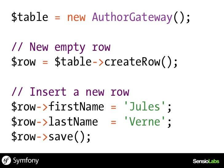 $isbn = 1234567890;$rows = $db->select()    ->from(array(b => books))    ->where(b.isbn = ?, $isbn)    ->order(array(b.tit...