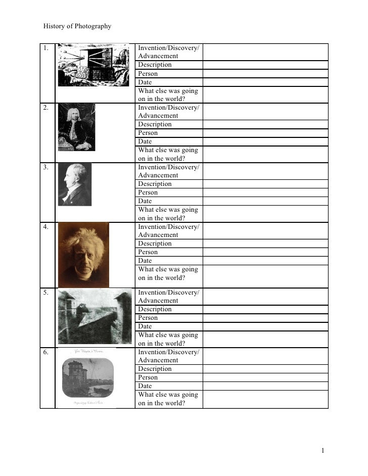 Printables Photography Worksheets photography worksheet hypeelite history of photo worksheet