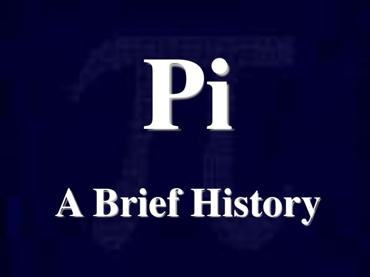 History of pi for Full name of pi