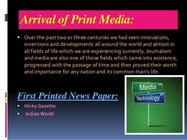 history of print media pdf