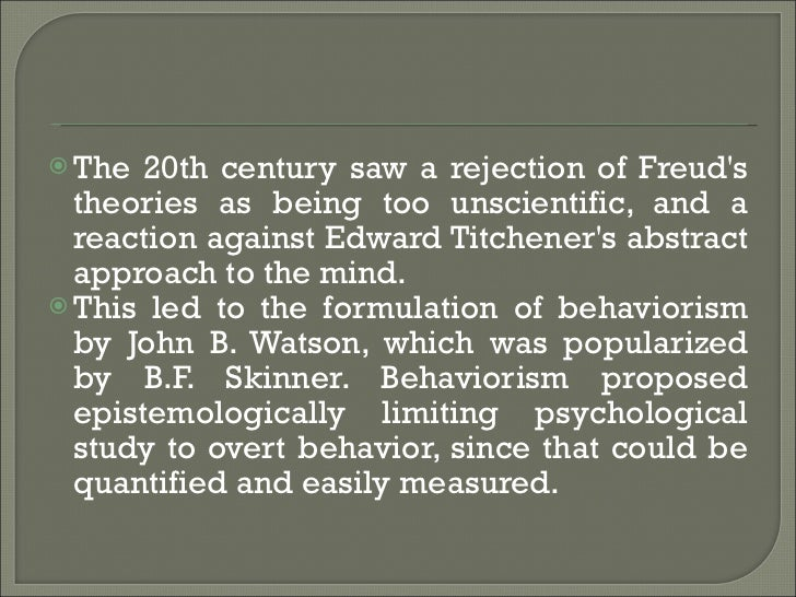 psychology history Psychology is a relatively young science with its experimental roots in the 19th century, compared, for example, to human physiology, which dates much earlier as mentioned, anyone interested in exploring issues related to the mind generally did so in a philosophical context prior to the 19th century two men, working in.