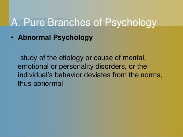 abnormal psychology is the branch of Freebase (000 / 0 votes) rate this definition: abnormal psychology abnormal psychology is the branch of psychology that studies unusual patterns of behavior.