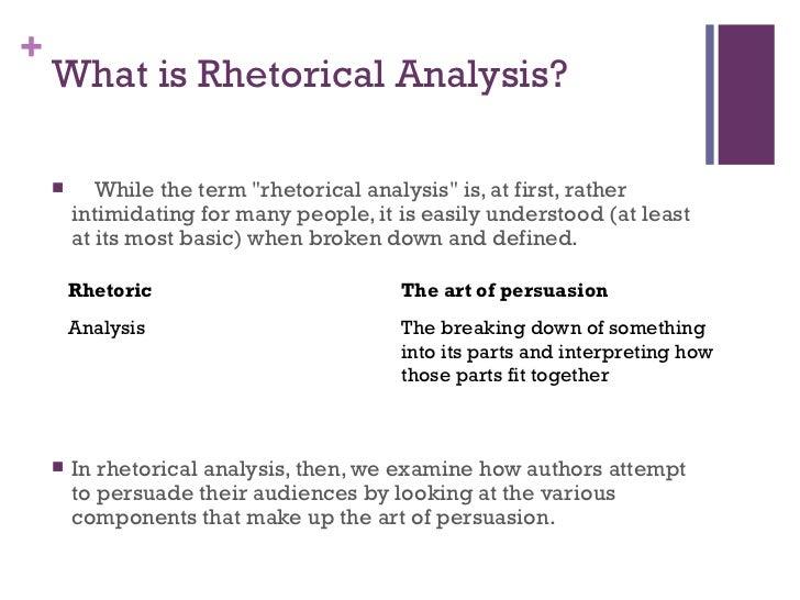 Rhetorical analysis essay definition origin