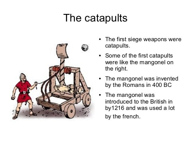 history of the catapult A trebuchet (french trébuchet history traction trebuchet torsion-based siege weapons such as catapults are not known to have been used in china.