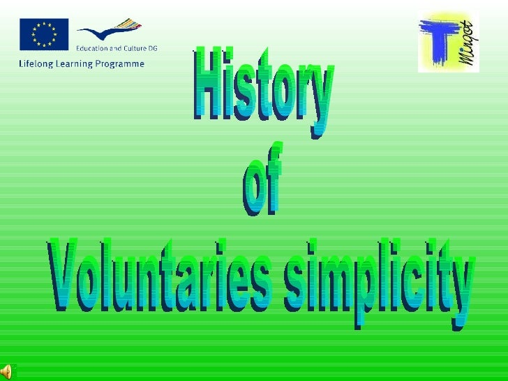 History  of  Voluntaries simplicity