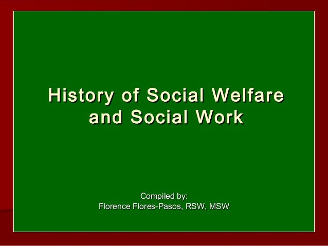 Research Paper Assignment: Social Welfare Policy