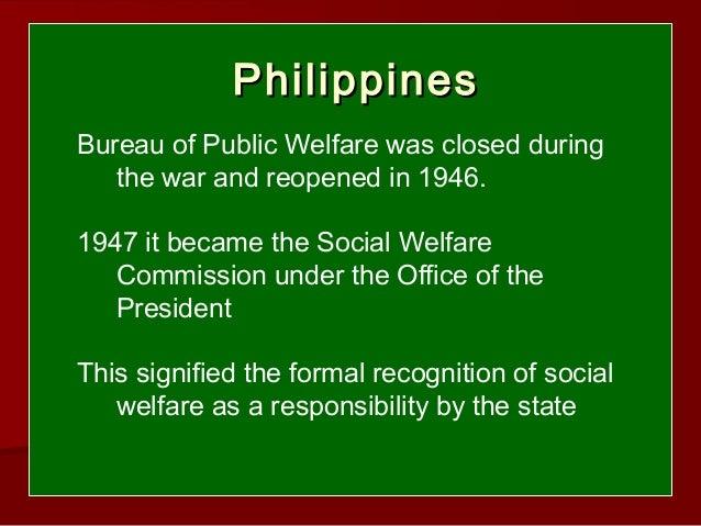 The origins of social welfare