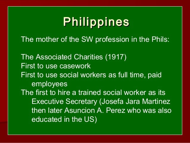 history of social work The national association of social workers (nasw) is the largest membership organization of professional social workers in the world.