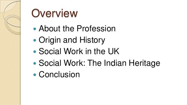 Understanding social work in the history