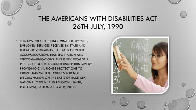 an interpretation of the americans with disabilities act of 1990 Americans with disabilities act of 1990 title ii--public services  sec  such regulations shall be consistent with regulations and analysis as in  part.
