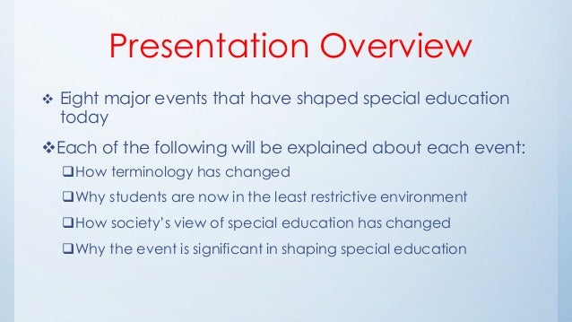 History of special education april wells_wk1