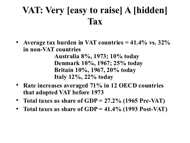 an analysis of the advantage of national sales tax versus the income tax In simple terms, a vat is a type of national sales tax  some want to use the  revenues from a vat to facilitate tax reform and/or social security.
