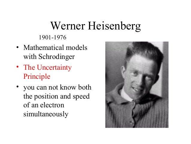 History of the atom Werner Heisenberg Atomic Model