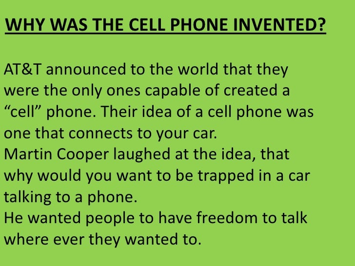 an introduction to the history of cell phones A lot can happen in 40 years but when it comes to technology, 40-years is like going back to the days of moses or the roman empire case in point: the mobile phone –– and, more recently, the rise of mobile internet communications, social networks and super-fast internet.