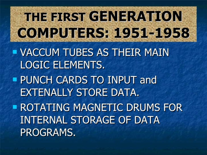 History of electronic age in computers