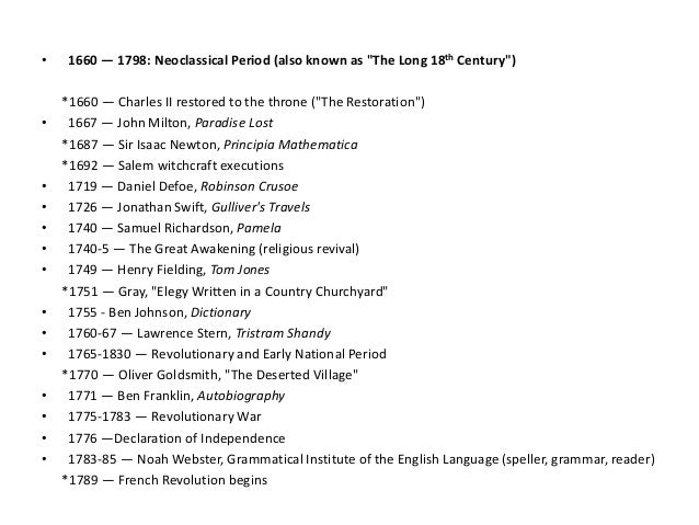 history of the english literature