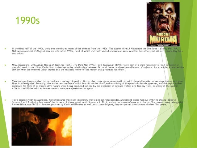 History of the genre: Horror