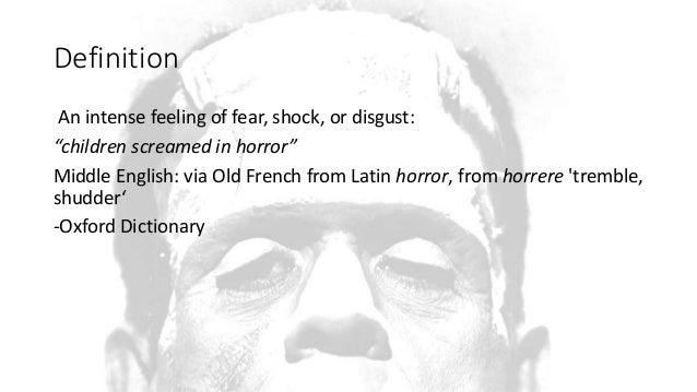 Image result for definition of horror genre