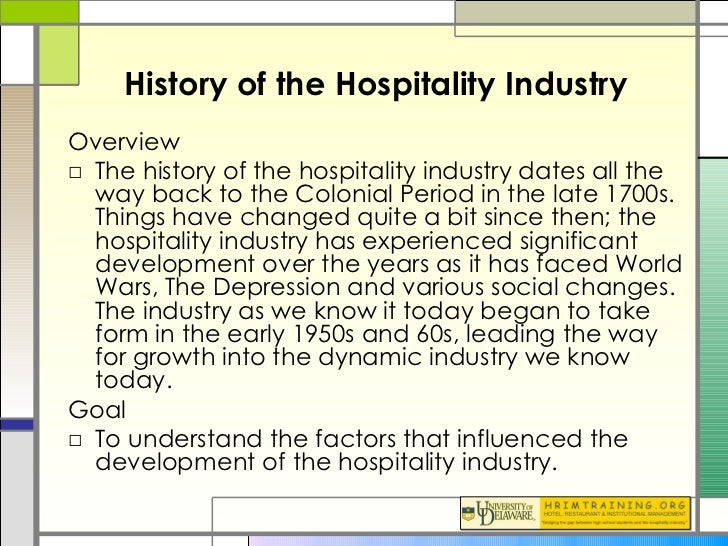 origin of hospitality industry