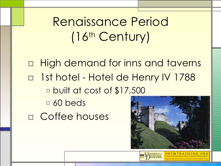 history of hospitality The hospitality industry includes the hotel and motel, or lodging, trade as defined by the council on hotel, restaurant and institutional education, it also includes food services, recreation services, and tourism.