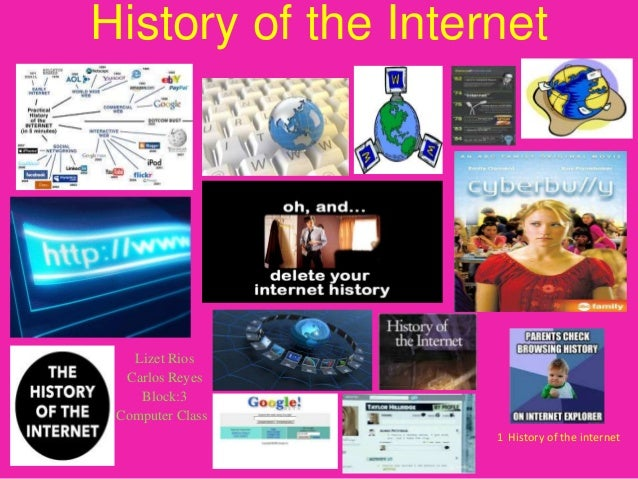 History of the Internet  Lizet Rios Carlos Reyes Block:3 Computer Classs 1 History of the internet