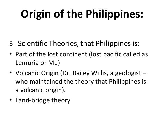 ORIGIN OF THE PHILIPPINES