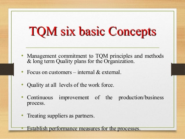 History Of Total Quality Management