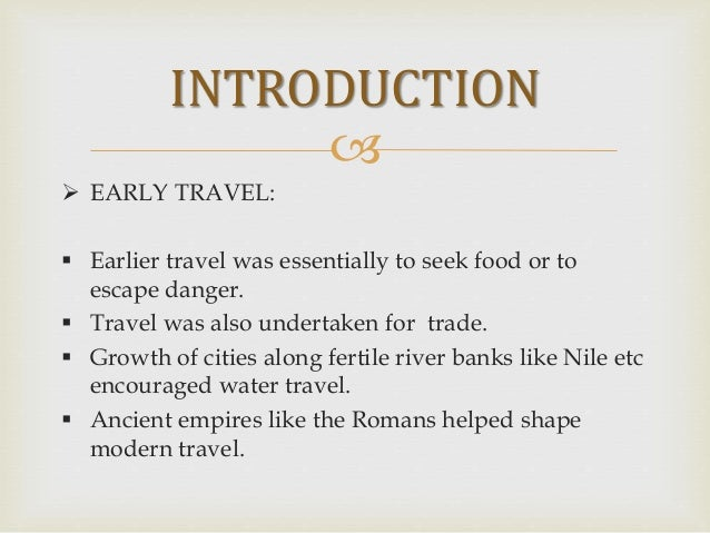 A Brief History of Travel and Tourism