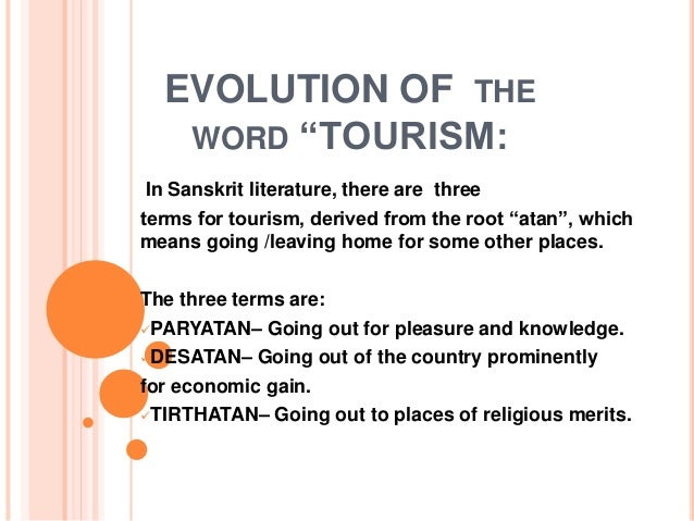 evolution and historical development of tourism