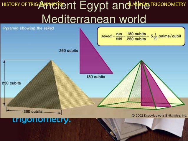 the origins of trigonometry The origins of spherical trigonometry in greek mathematics and the major developments in islamic mathematics are discussed fully in history of trigonometry.