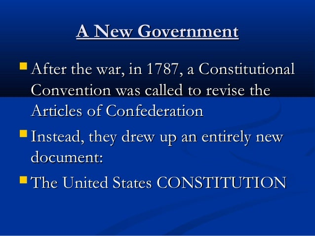 a comparison between the articles of confederation and the constitution of 1787 in the history of th Comparison between the articles of confederation and the united states constitution 991 words 4 pages towards the end of the revolutionary war, the people felt they needed a document to secure their independence from britain.