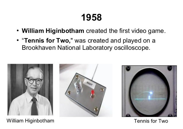 Oscilloscope Tennis For Two : History of games