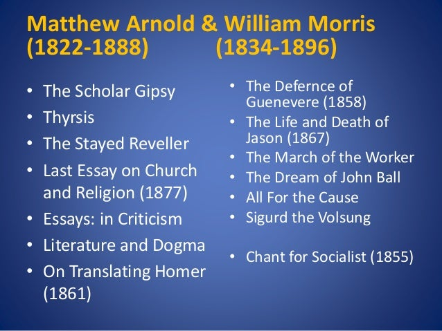 essays in criticism matthew arnold Arnold's work as a literary critic began with the 1853 preface to  his essays in  criticism (1865, 1888), remains a significant.