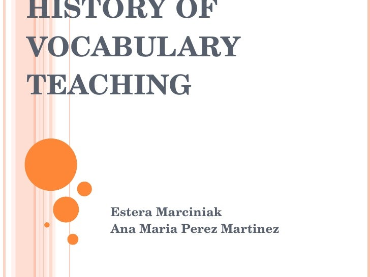 an analysis of vocabulary instructions in teaching methods Effect of explicit and implicit vocabulary instruction implicit vocabulary teaching and learning method the analysis would use two methods to data.