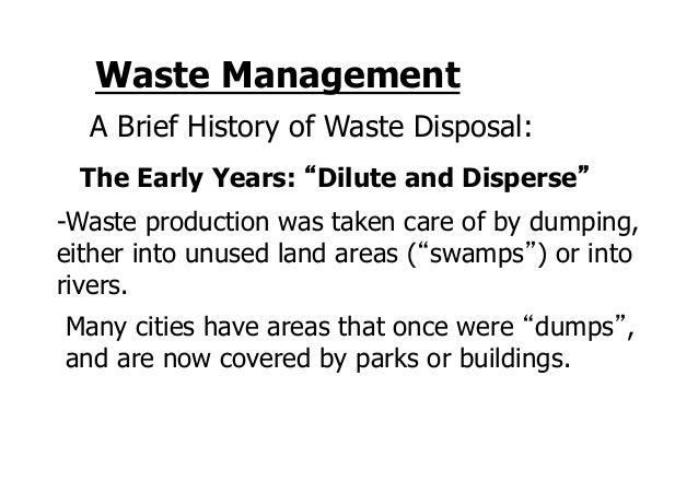 history of waste management pdf