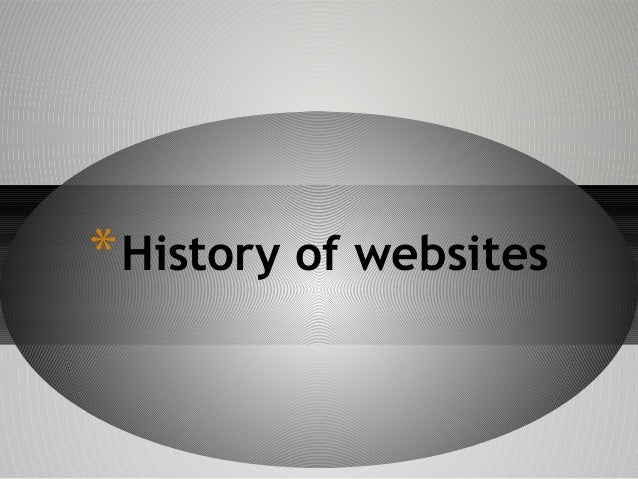 * History of websites