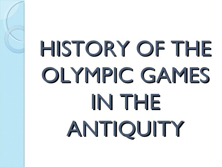 the origins and history of the olympics games Every two years, when the winter or summer olympics comes around, we hear about how the games staged at olympia in greece since 776 bc came to a.