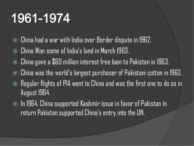 pakistan and china relationship history