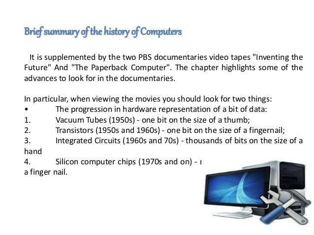 short summary of history of computer