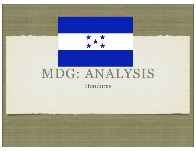 MDG: ANALYSIS    Honduras