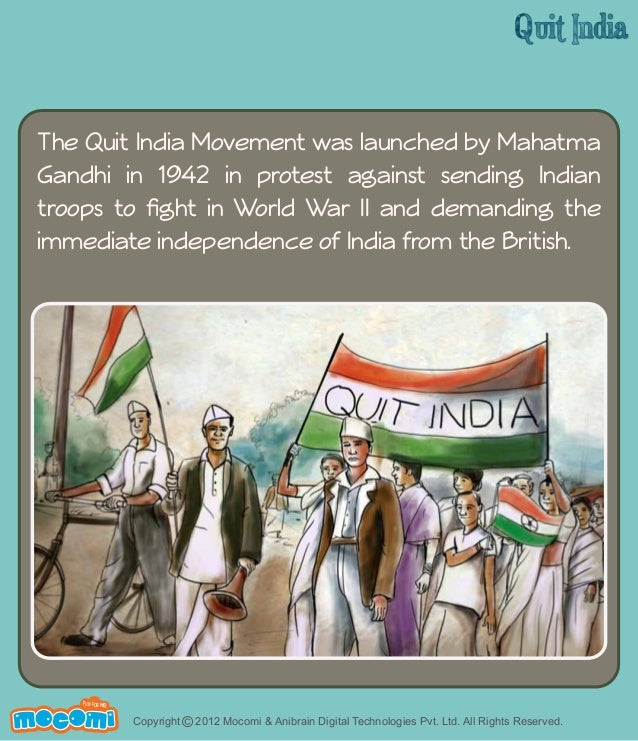 what was the quit india movement