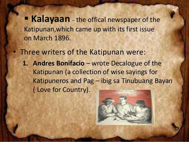 katipunan teachings The positively filipino online magazine chronicles the experiences of the global filipino in all its complexity,  which the katipunan espoused,.