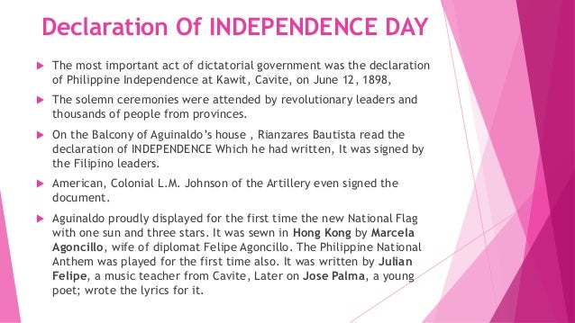 a history of philippine independence with americas help Emilio aguinaldo: emilio aguinaldo, filipino independence leader who fought against spain and the united the americans returned to the philippines in late 1944.