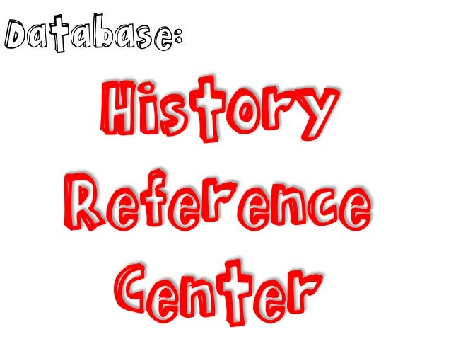 Database: History Reference Center
