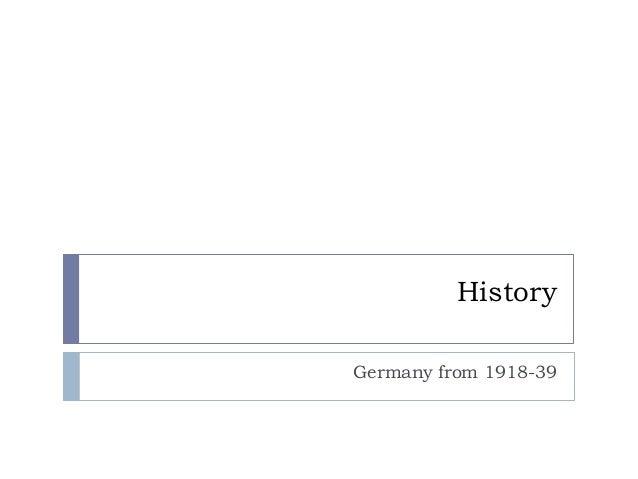 HistoryGermany from 1918-39