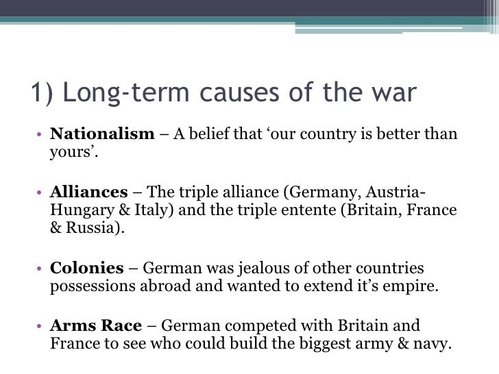 History Revision 1 – Causes Of Ww1