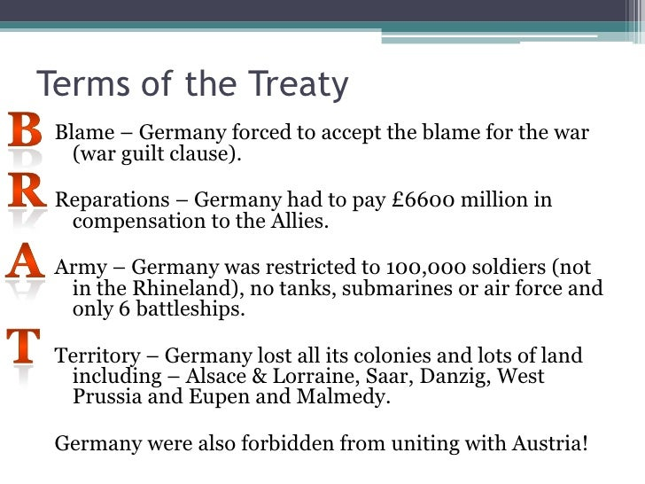 history tov Humanities history & culture how the treaty of versailles contributed to  hitler's rise its provisions left germany in ruins, fertile ground for.