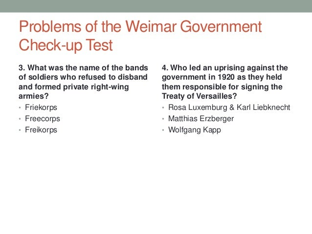 weimar problems 1919 1923 Germany contents: the weimar constitution weimar problems how far did the republic recover the nazis 1919-29 hitler's rise to power consolidating power.