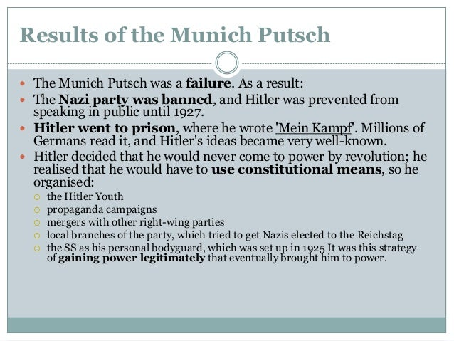 significance of the putsch